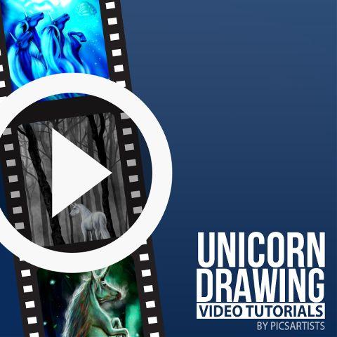 unicorn drawing time lapse video