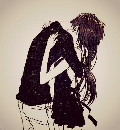 Love hug sweet anime sad love u all picsart - Anime boy hugging girl ...