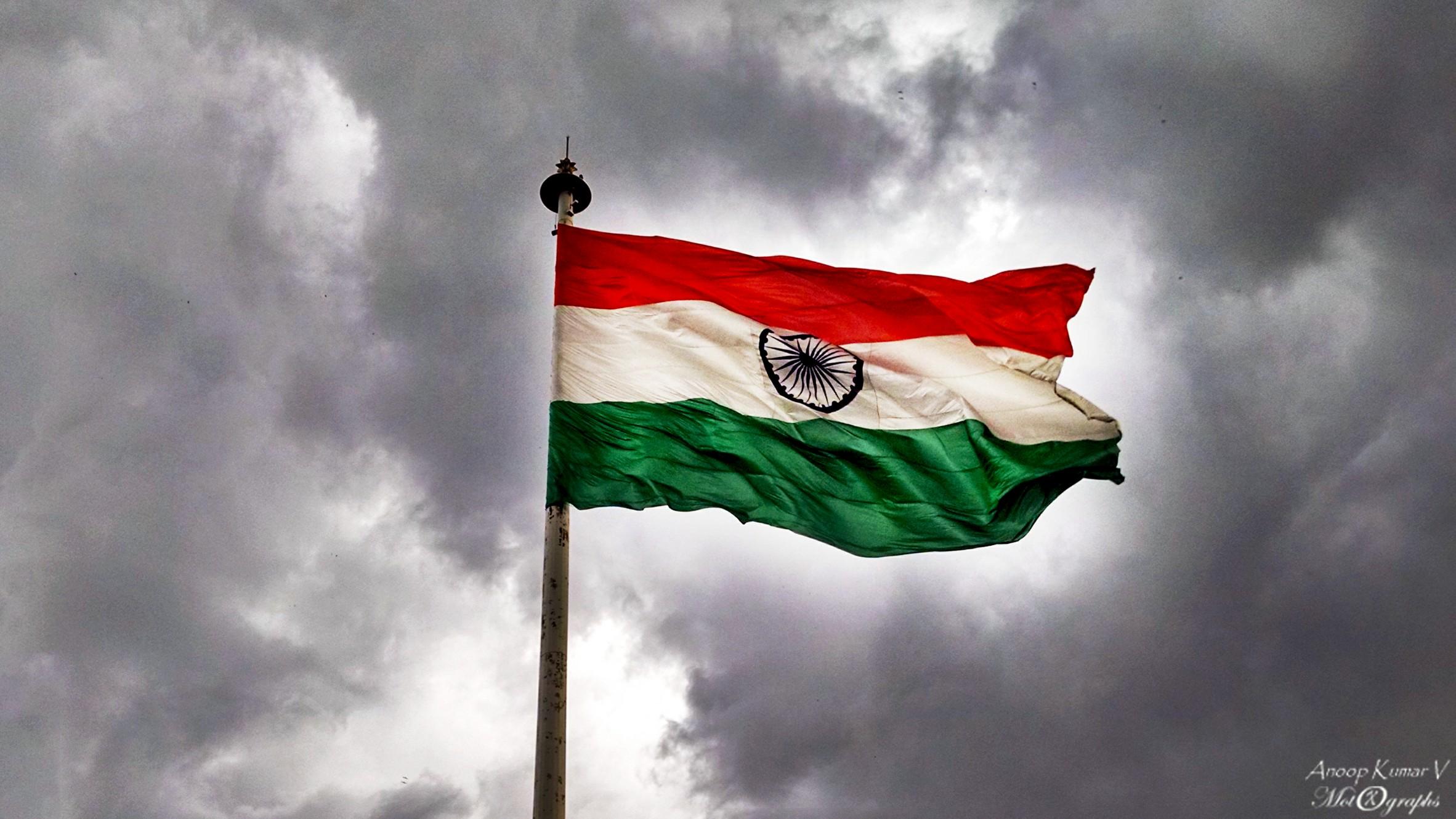 Indian Flag Flying Wallpaper: The 'Tiranga' (National Flag Of India) Flying Bright