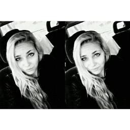blonde blackandwhite latvia latvian girl