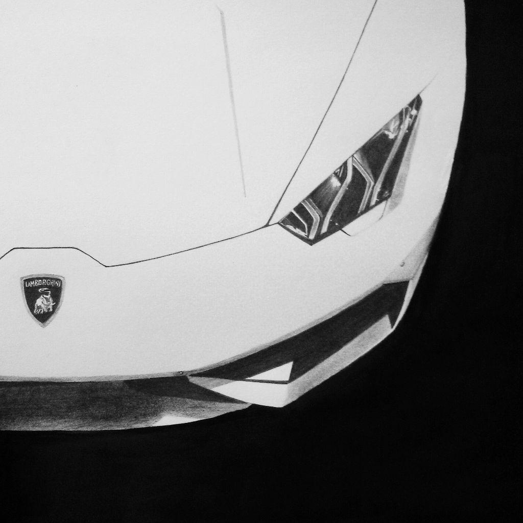 Lamborghini Huracan Sketch By Me Art Cars Pencil Drawi