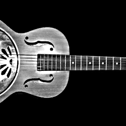 music guitar blackandwhite