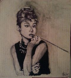 drawing people portrait watercolor audreyhepburn
