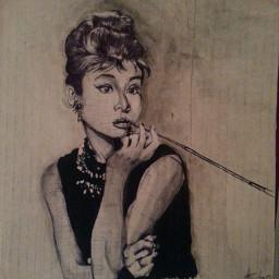 drawing people portrait watercolor audreyhepburn