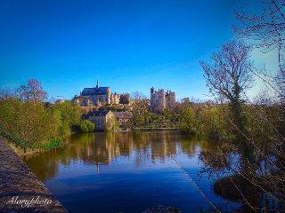 photography castle river france hdr