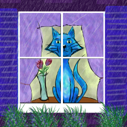 dcrainyday drawing art cat