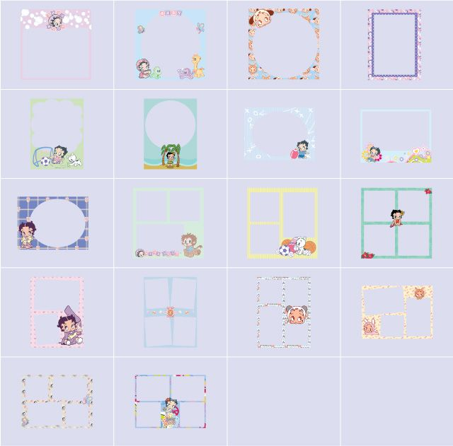 baby boop collage frames