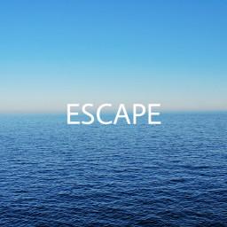 escape horizon sea blue calanque