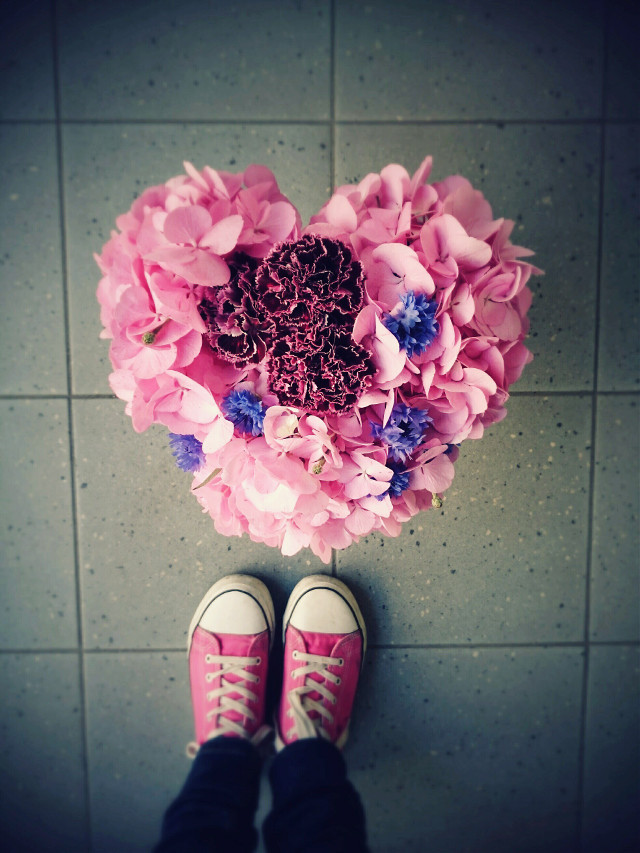 Ups, I made a heart out of flowers   #flower  #colorful  #love
