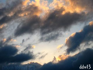 clouds sky colors sunset love