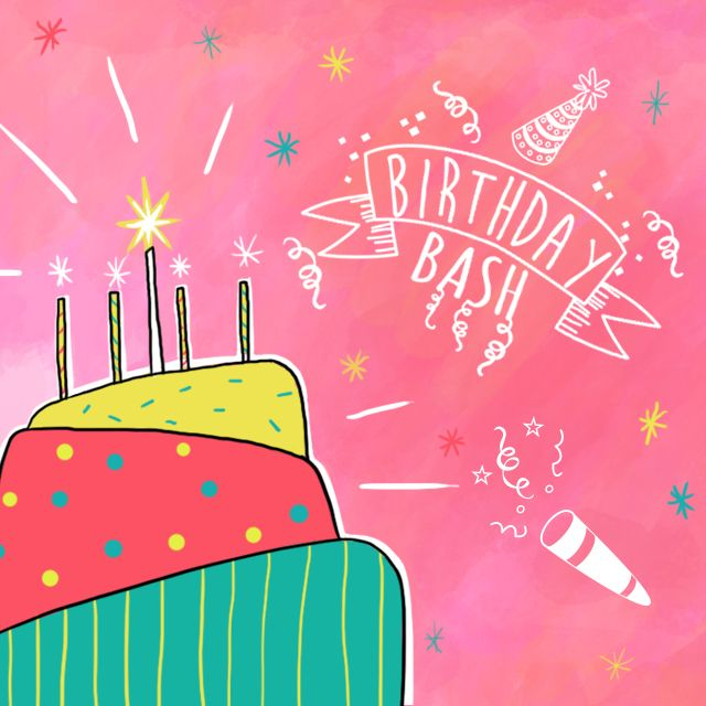 birthday bash clipart
