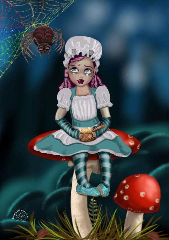 Little Miss  Drawn using SketchClub #art  #draw #digitalart #sketch #fantasy #nurseryrhymes