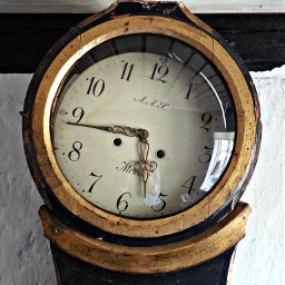 love time clock design antique