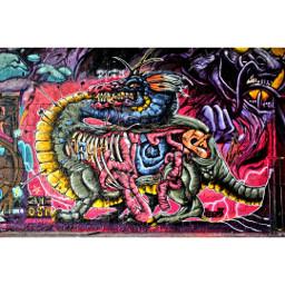 colorful graffiti photography berlin teufelsberg