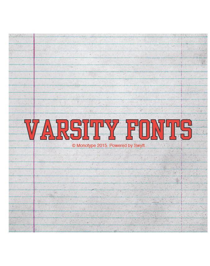 varsity fonts