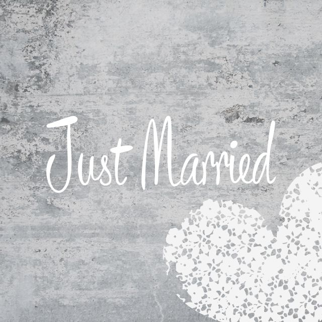 just married frames