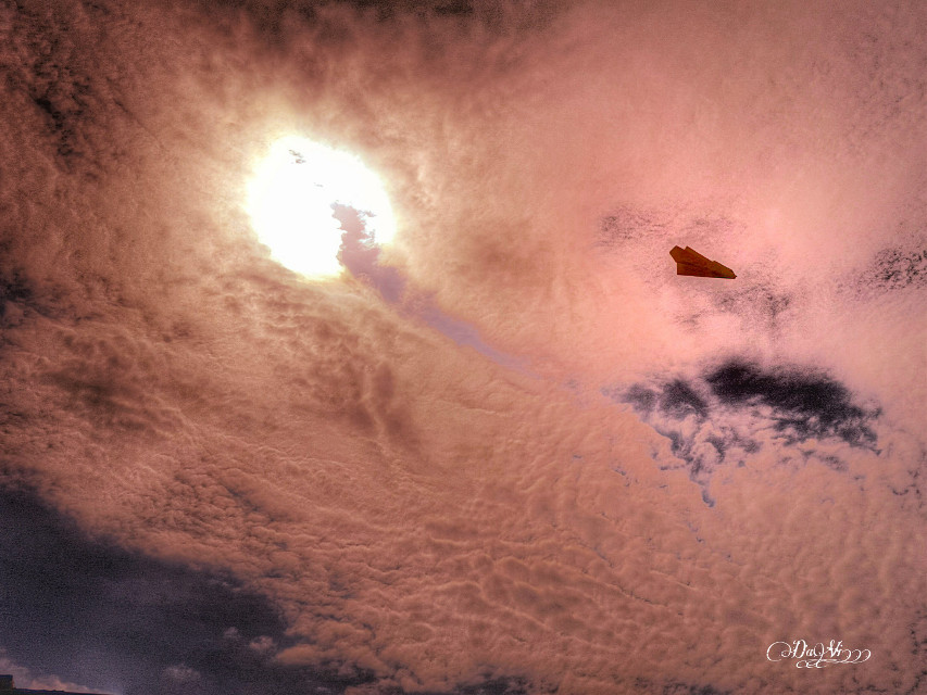 Becoming Mr.Sunset  after surviving two different types of cancer and given thanks to the Lord for keeping me alive. #mystory #photography #sun #sunset #nature #paperplane #emotion #sky #summer #clouds #love  #Don'tFollowMe  #GhostFollowers