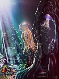 picsart dcjellyfish drawing fantasy digitalpainting