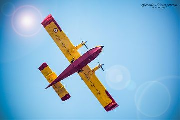 airplane aircraft fly sky red