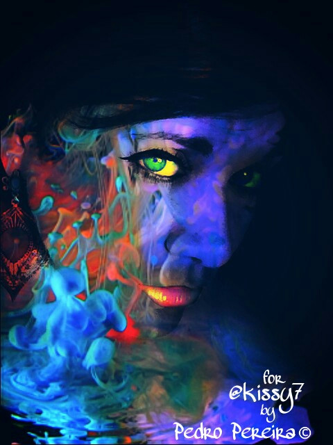 Edit for @kissy7  Hope you like it...☺☺☺   #fantasy  #colorful  #glow  #people  #interesting