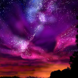dcnightsky drawing artwork nature stars