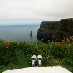 freetoedit ireland cliffsofmoher grass sea