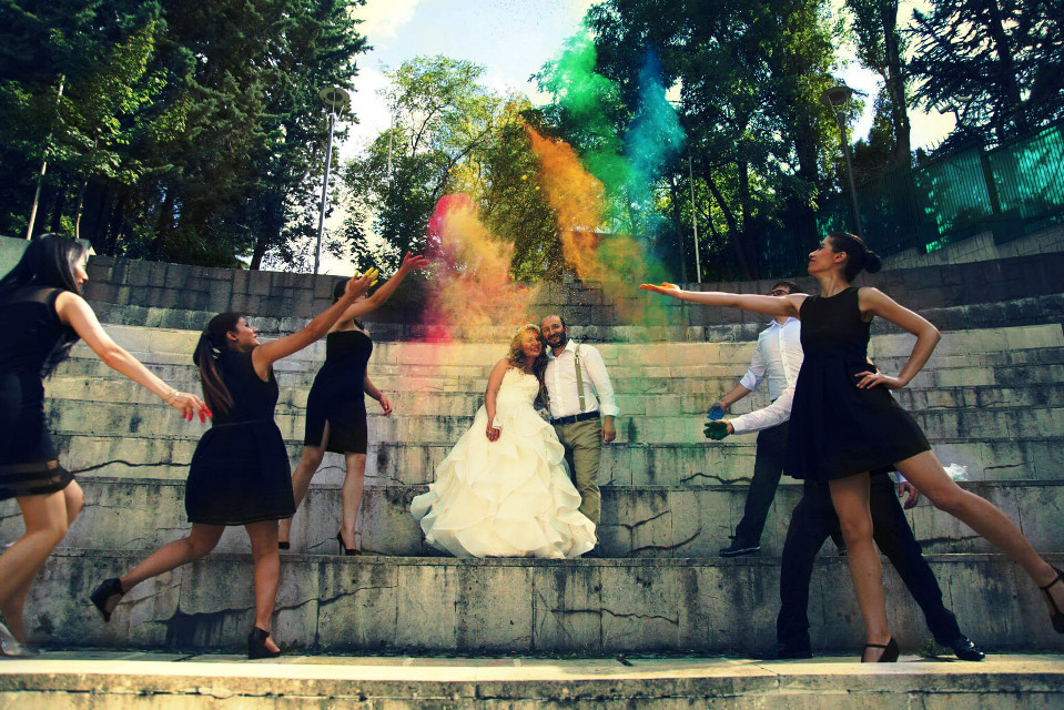 #colorful  #wedding   #colorsplash #nature #people #photography #popart  #bride #groom #bridesmaid  #gelinlik