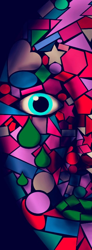 #dcabstractshapes #face  #red  #tears  #eye  #shapes #emotions