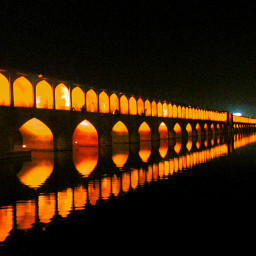 lighttrail p photography bridge isfahan
