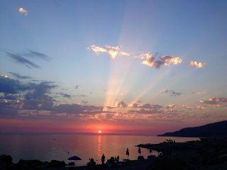 sea afternoon italy italia sunset