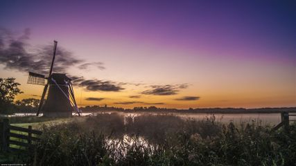 dawn twilight netherlands windmill beforesunrise