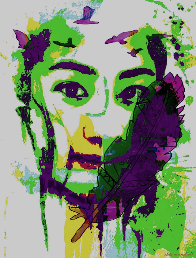 """ Portrait colors ""  #colorful #drawtool #abstract #watercolor #poster #clipart #curvestool #pencilart #women #editstepbystep #comic"