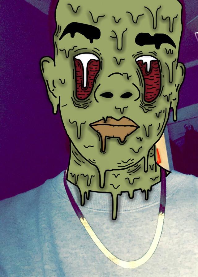 #grimeedit #zombie #grime #green #red #grimeart