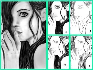 stepbystep tutorial blackandwhite