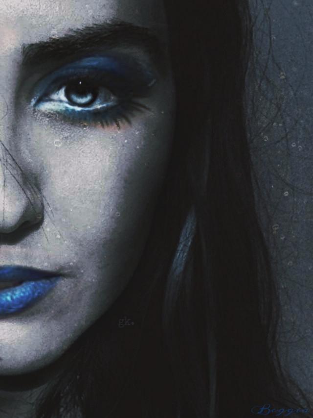 By Beggia -FANTASY BLUE GIRL original photo by @gizemkarayavuz  E dopo l'editore di tutta picsart non poteva mancare il mio eheh  #blue #edited #freetoedit #artisticselfie #fantasy #eye