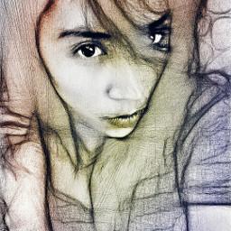pencilart freetoedit colorsplash artisticselfie