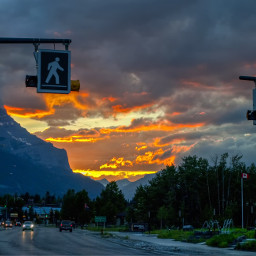 photography sunset colorful canada alberta