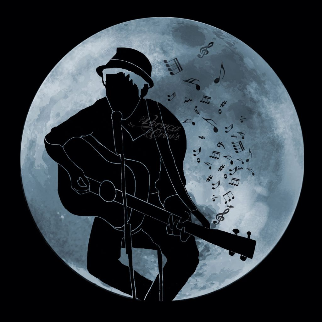 #art #outline #moon #drawing #music #guitar      #ryaneggold