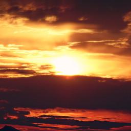sunset clouds autumn colorful colorsplash