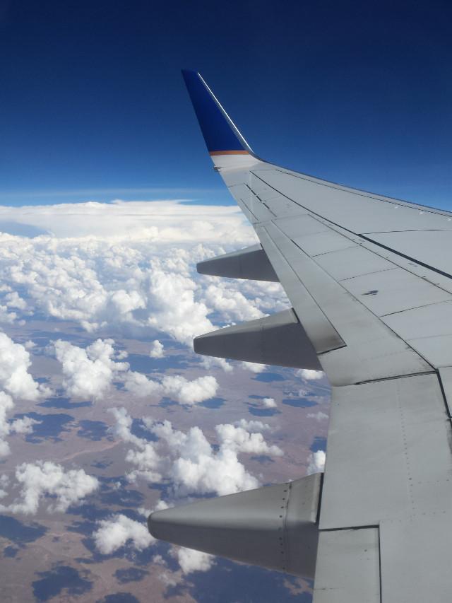 #airplane #sky  #clouds
